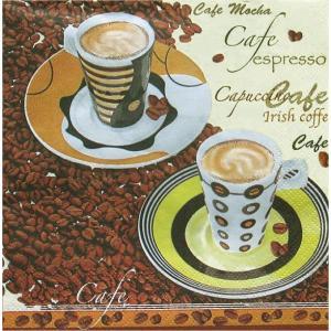 Daisy ポーランド ペーパーナプキン Lunch napkins カフェ Caffe Espresso バラ売り2枚1セット SDOG-003301 デコパージュ ドリパージュ|ccpopo