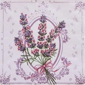 Daisy ポーランド ペーパーナプキン Lunch napkins ラベンダー Lavender バラ売り2枚1セット SDOG-004701 デコパージュ ドリパージュ|ccpopo