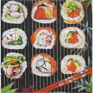 Daisy ポーランド ペーパーナプキン 和柄 寿司 Sushi バラ売り2枚1セット SDOG-008301 デコパージュ デコパージュ ドリパージュ|ccpopo