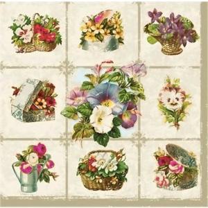 Daisy ポーランド ペーパーナプキン Lunch napkins  Blumen お花たち バラ売り2枚1セット SDOG-008801|ccpopo