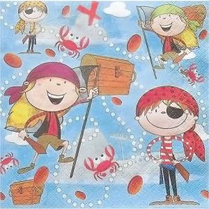 Daisy ポーランド ペーパーナプキン 海賊 piraci バラ売り2枚1セット SDOG-012501 デコパージュ ドリパージュ|ccpopo