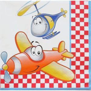 Daisy ポーランド ペーパーナプキン Airplane & Helicopter 飛行機&ヘリコプター バラ売り2枚1セット SDOG-017701 デコパージュ デコパージュ|ccpopo