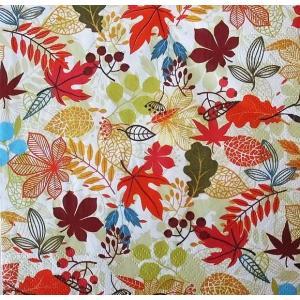 Daisy ポーランド ペーパーナプキン Lunch napkins 落ち葉 Falling Leaves SDOG018201 バラ売り2枚1セット デコパージュ ドリパージュ|ccpopo