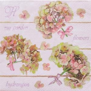 Daisy ポーランド ペーパーナプキン Lunch napkins アジサイ 紫陽花 Hydrangea Flowers バラ売り2枚1セット SDOG-018901 デコパージュ ドリパージュ|ccpopo