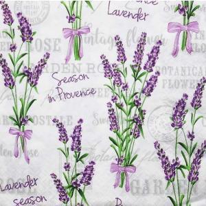 Daisy ポーランド ペーパーナプキン Lunch napkins ラベンダー Lavender Season in Provence SDOG025801 バラ売り2枚1セット デコパージュ ドリパージュ|ccpopo