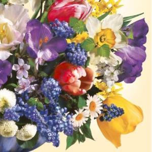 Daisy ポーランド ペーパーナプキン 花束 Fruhlingsstraus バラ売り2枚1セット SDWI-003001 デコパージュ ドリパージュ|ccpopo