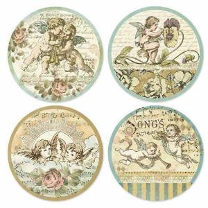 スタンペリア Stamperia イタリア 薄紙ステッカー 天使 エンジェル Angels Adhesive paper DFL002 正規輸入品 素材|ccpopo