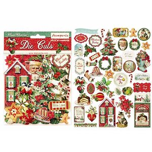 廃盤 スタンペリア Stamperia イタリア ダイカットアソート クラシック・クリスマス Classic Christmas 素材 DFLDC14 2020秋冬 ccpopo