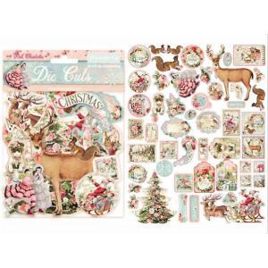 スタンペリア Stamperia イタリア ダイカットアソート ピンク・クリスマス Pink Christmas 素材 DFLDC15 2020秋冬 ccpopo