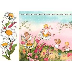 スタンペリア Stamperia イタリア デコパージュ用ライスペーパー大 48cm×33cm Rice paper DFS0400 子供達 花 Baby Girl|ccpopo