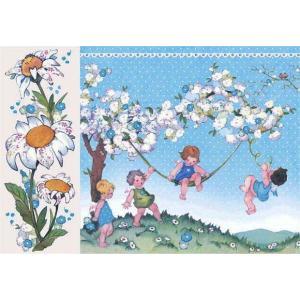 スタンペリア Stamperia イタリア デコパージュ用ライスペーパー大 48cm×33cm Rice paper DFS0401 子供達 花 Baby Boy|ccpopo