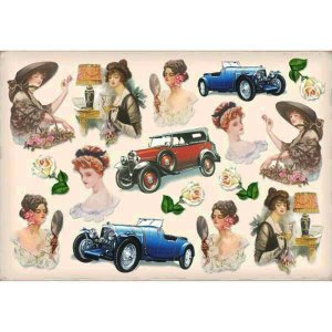 スタンペリア Stamperia イタリア デコパージュ用ライスペーパー大 48cm×33cm Rice paper DFS122 マドモアゼル 令嬢 お嬢様 Mademoiselle|ccpopo