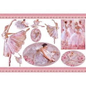 スタンペリア Stamperia イタリア デコパージュ用ライスペーパー大 48cm×33cm Rice paper DFS351 ダンサー バレリーナ バレエ Dancer|ccpopo