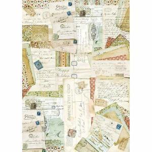 2018年秋冬 スタンペリア Stamperia イタリア デコパージュ用ライスペーパー A3 29.7cmX42cm Rice paper DFSA3005 ポストカード 手紙 Postcards ccpopo