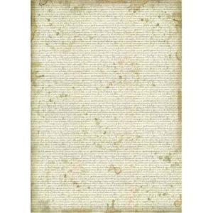 スタンペリア Stamperia イタリア デコパージュ用ライスペーパー A3 29.7cmX42cm Rice paper DFSA3030 壁紙 Written Wallpaper 背景 バックグラウンド ccpopo