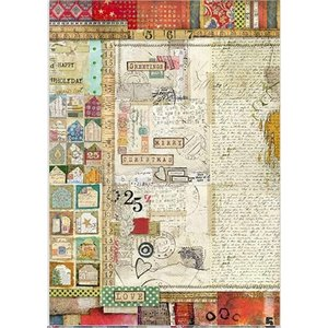 スタンペリア Stamperia イタリア デコパージュ用ライスペーパー A3 29.7cmX42cm Rice paper DFSA3044 Writings 2019秋冬|ccpopo