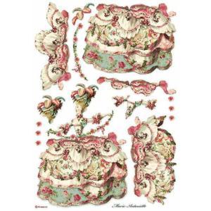 スタンペリア Stamperia イタリア デコパージュ用ライスペーパー A3 29.7cmX42cm Rice paper DFSA3074 Lady Pink レディ ピンク|ccpopo