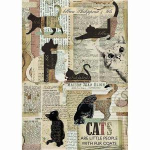 2018年秋冬 スタンペリア Stamperia イタリア デコパージュ用ライスペーパー Rice paper A4 DFSA4317 パッチワークギフト 猫 キャット ネコ Cats