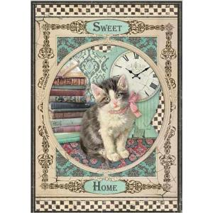 スタンペリア Stamperia イタリア デコパージュ用ライスペーパー Rice paper A4 スイートホームキャット 猫 Sweet Home Cat SPRING 2019 DFSA4353|ccpopo