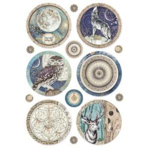 スタンペリア Stamperia イタリア デコパージュ用ライスペーパー Rice paper A4 Cosmos sphere DFSA4385 2019秋冬|ccpopo