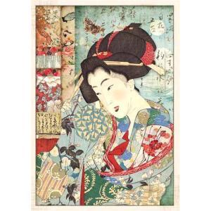 スタンペリア Stamperia イタリア デコパージュ用ライスペーパー Rice paper A4 芸者 和柄 Geisha DFSA4392 2019秋冬|ccpopo