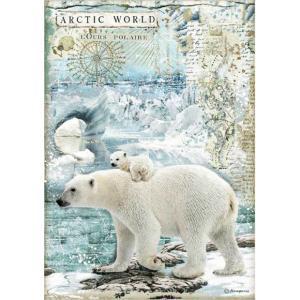 スタンペリア Stamperia デコパージュ用ライスペーパー Rice paper 北極圏 A4 Artic World polar DFSA4478 2020秋冬|ccpopo