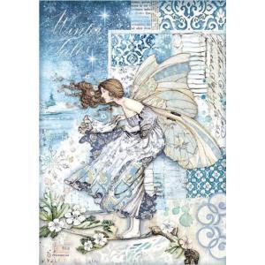 スタンペリア Stamperia デコパージュ用ライスペーパー Rice paper A4 風の妖精 Fairy in the wind DFSA4488 2020秋冬|ccpopo