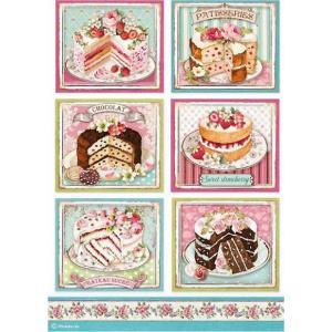 スタンペリア Stamperia デコパージュ用ライスペーパー Rice paper A4 パティスリー ケーキ 洋菓子 Patisserie DFSA4500 2020秋冬|ccpopo