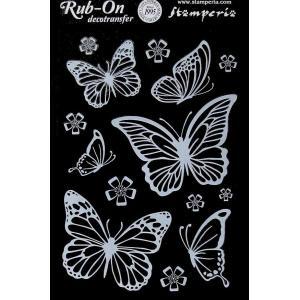 スタンペリア Stamperia イタリア デコレーション用転写シート Rub-on Deco Transfer Butterflies A5 DFTD01 蝶 バタフライ デコパージュ ミクストメディア|ccpopo