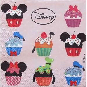 1枚バラ売りペーパーナプキン ディズニー Disney カップケーキ 紙ナフキン 3枚重ね デコパージュ ドリパージュ|ccpopo