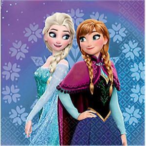 2枚1セット アナと雪の女王 FROZEN MAGIC 511619 ディズニー アメリカ MADE IN USA ペーパーナプキン 紙ナフキン 2枚重ね|ccpopo