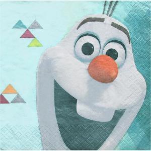 2枚1セット アナと雪の女王 オラフ OLAF ディズニー アメリカ MADE IN USA ペーパーナプキン 紙ナフキン 2枚重ね|ccpopo