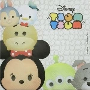 1枚バラ売り 人気キャラクター ディズニー ツムツム Disney TSUMTSUM ペーパーナプキン 紙ナフキン 33x33cm デコパージュ|ccpopo