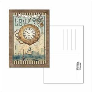 スタンペリア Stamperia イタリア 絵はがき ポストカード グリーティングカード Postcard 10x15.0cm ファンタスティックバルーン ECARD003 2019秋冬|ccpopo
