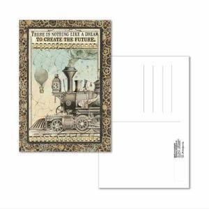 スタンペリア Stamperia イタリア 絵はがき ポストカード グリーティングカード Postcard 10x15.0cm ファンタスティックトレイン ECARD004 2019秋冬|ccpopo