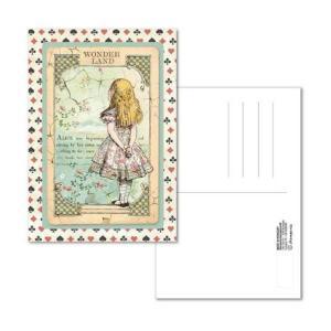スタンペリア Stamperia イタリア 不思議の国のアリス 絵はがき ポストカード グリーティングカード Postcard 10x15.0cm Alice ECARD005 2019秋冬|ccpopo