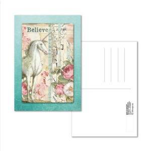 スタンペリア Stamperia イタリア 絵はがき ポストカード グリーティングカード Postcard 10x15.0cm Wonderland Unicorn ECARD008 2019秋冬|ccpopo