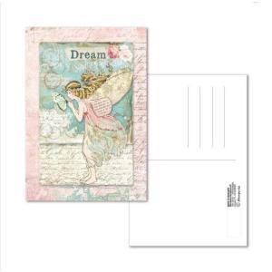 スタンペリア Stamperia イタリア 絵はがき ポストカード グリーティングカード Postcard 10x15.0cm Wonderland Fairy ECARD009 2019秋冬 ccpopo