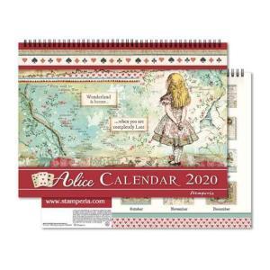 【半額50%OFF特別セール】生産終了レア在庫限り スタンペリア Stamperia イタリア 不思議の国のアリス 2020年カレンダー Calendar 2020 Alice ECL2003 2019秋冬 ccpopo