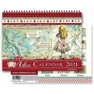 スタンペリア Stamperia イタリア 不思議の国のアリス 2021年カレンダー Calendar 2021 Alice ECL2109 2020秋冬|ccpopo