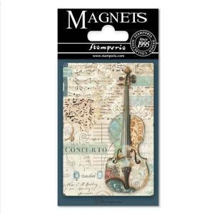スタンペリア Stamperia イタリア マグネット Magnet 8x5.5cm ミュージック バイオリン Music Violin EMAG009 2019秋冬|ccpopo