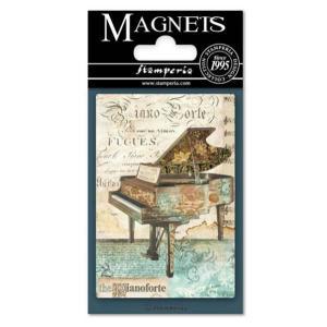 スタンペリア Stamperia イタリア マグネット Magnet 8x5.5cm ミュージック ピアノ Music Piano EMAG010 2019秋冬|ccpopo