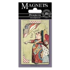 スタンペリア Stamperia イタリア 不思議の国のアリス マグネット Magnet 8x5.5cm Alice Mad Hatter EMAG011 2019秋冬|ccpopo