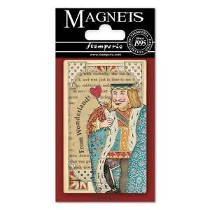 スタンペリア Stamperia イタリア 不思議の国のアリス マグネット Magnet 8x5.5cm Alice Queen of Hearts EMAG012 2019秋冬|ccpopo
