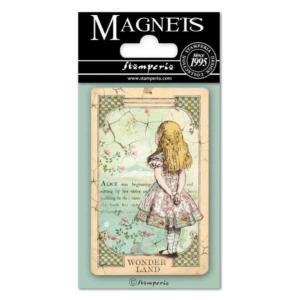 スタンペリア Stamperia イタリア 不思議の国のアリス マグネット Magnet 8x5.5cm Alice EMAG013 2019秋冬|ccpopo