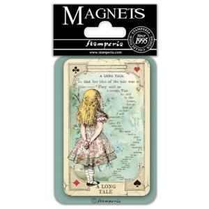 スタンペリア Stamperia イタリア マグネット Magnet 8x5.5cm 不思議の国のアリス Alice A long Tale EMAG029|ccpopo