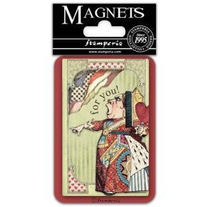 スタンペリア Stamperia イタリア マグネット Magnet 8x5.5cm 不思議の国のアリス King of hearts EMAG031|ccpopo