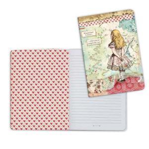スタンペリア Stamperia イタリア 不思議の国のアリス ノートブック Notebook A5 Alice ENBA5005 2019秋冬 ccpopo