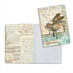 スタンペリア Stamperia イタリア ノートブック Notebook A5 ミュージックピアノ Music piano ENBA5012 2019秋冬|ccpopo