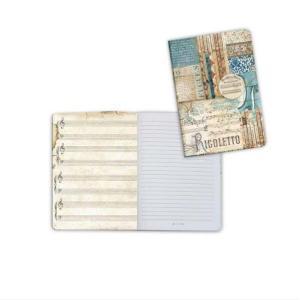 スタンペリア Stamperia イタリア ノートブック Notebook A6 音楽 ミュージック リゴレット オペラ ベルディ Music Rigoletto ENBA6011 2019秋冬 ccpopo